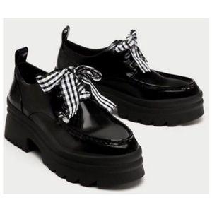 X ZARA Derby Chunky Shoes X